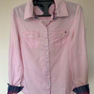 Pink Tommy Hilfiger Button Down Shirt